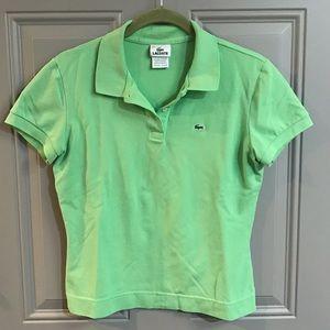 Green Lacoste Polo Shirt - Sz. L